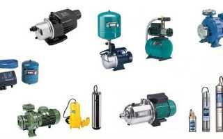 Электрические насосы для воды (электронасосы водяные): виды