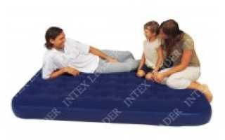 Надувной матрас с насосом (для сна, спальный)